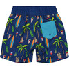 Cabana Chill Swim Trunk, Blue Surf - Swim Trunks - 2