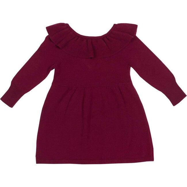 Ruffled Dress, Berry Red