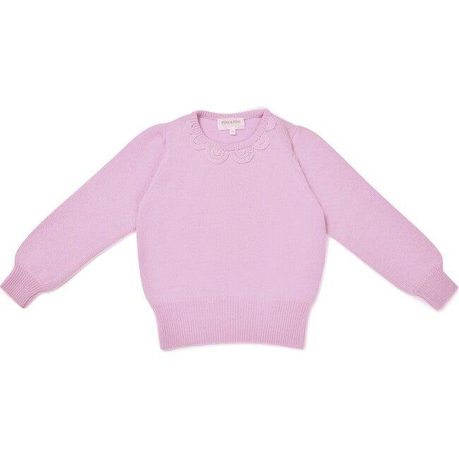 Petal Collar Jumper, Blossom Pink