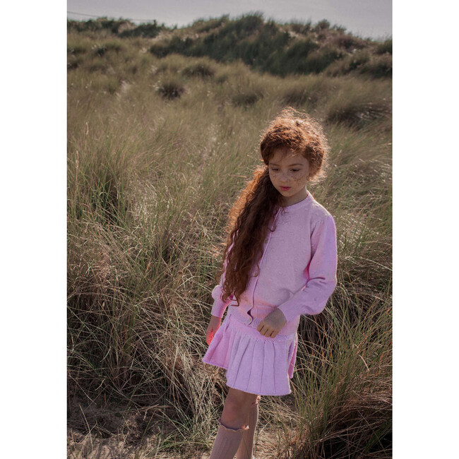 Bobble Cardigan, Blossom Pink