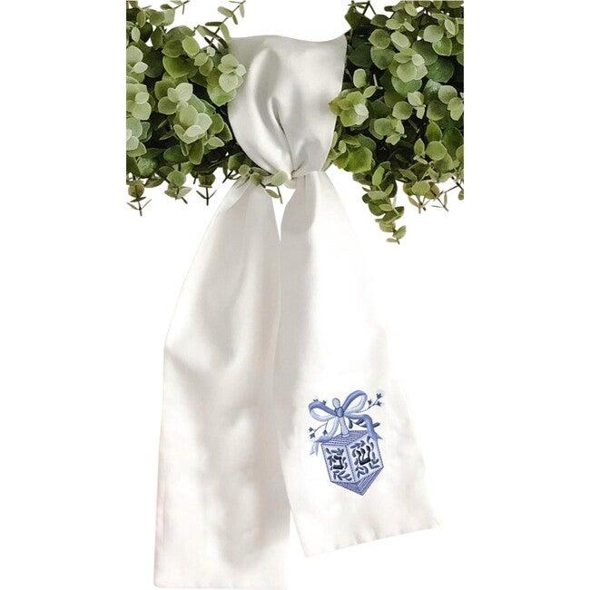 Wreath Sash, Chinoiserie Dreidel