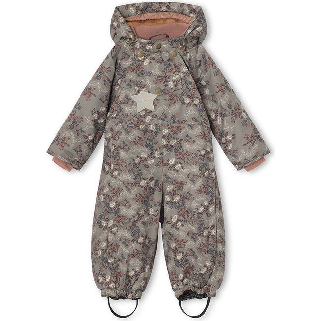 Printed Wisti Snow Suit, Agave Green