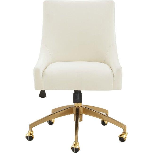 Jakob Adjustable Swivel Desk Chair, Cream