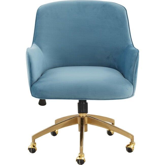 Kierstin Adjustable Swivel Desk Chair, Blue