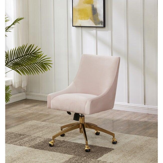 Jakob Adjustable Swivel Desk Chair, Pink