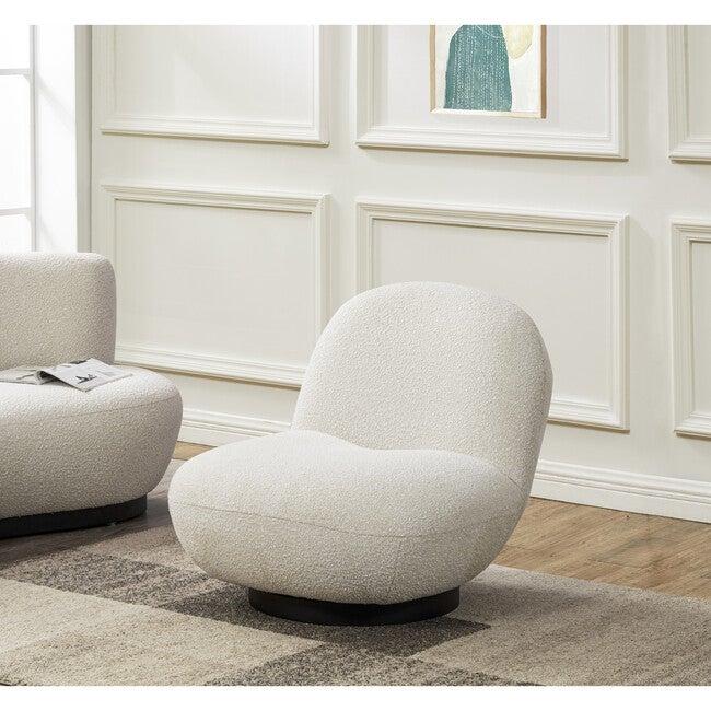 Stevie Boucle Accent Chair, Cream