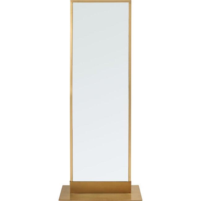 Myranda Acrylic Standing Mirror, Gold