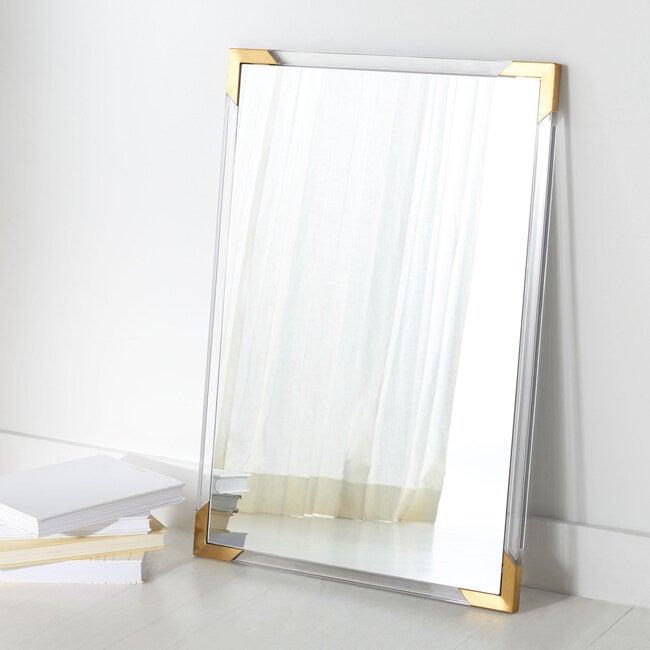 Brendan Rectangle Acrylic Mirror, Clear