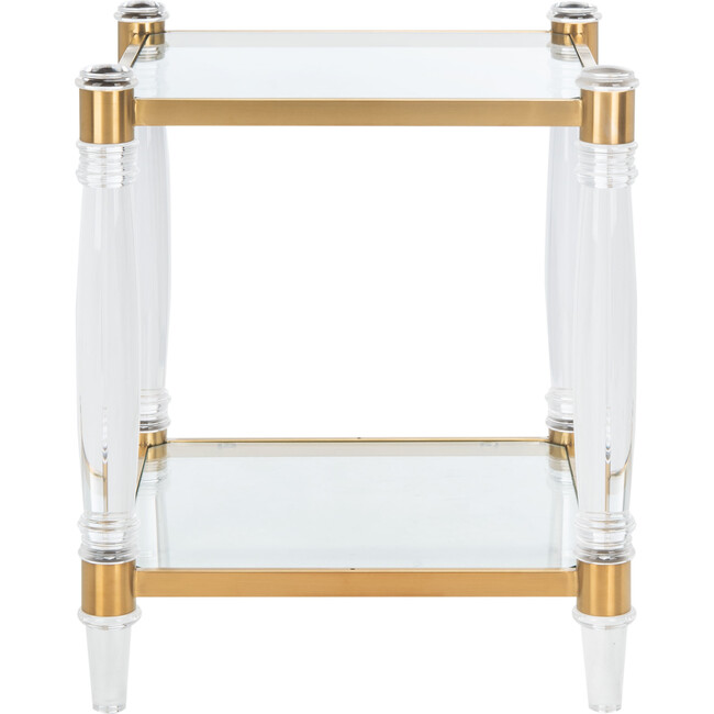 Isabelle Acrylic Accent Table, Clear