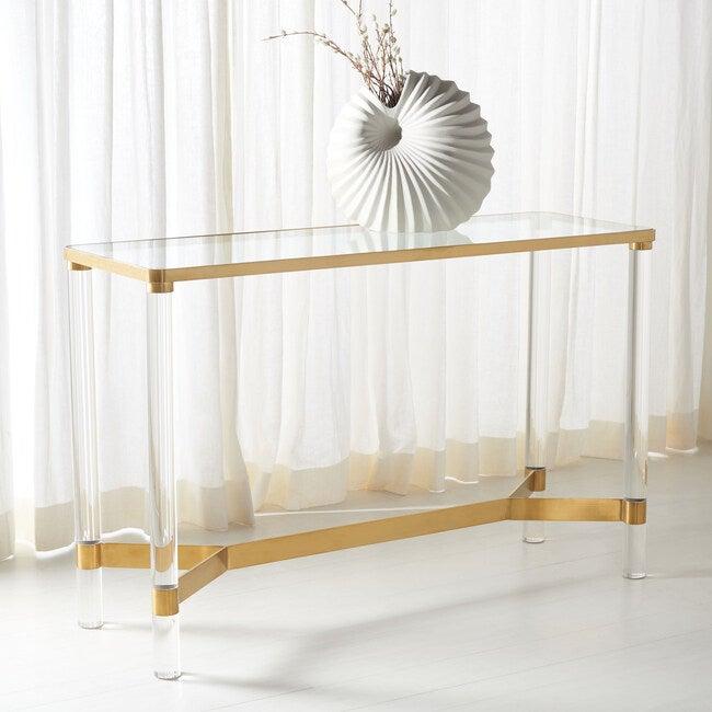 Suzanna Acrylic Console Table, Clear
