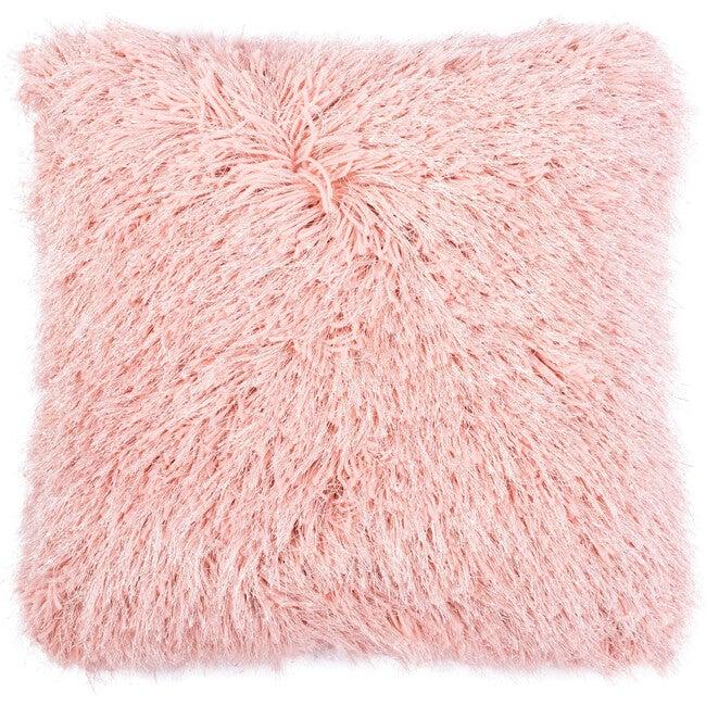 Shag Modish Metallic Pillow, Pink
