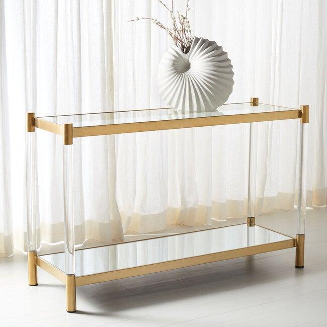 Shayla Acrylic Console Table, Clear