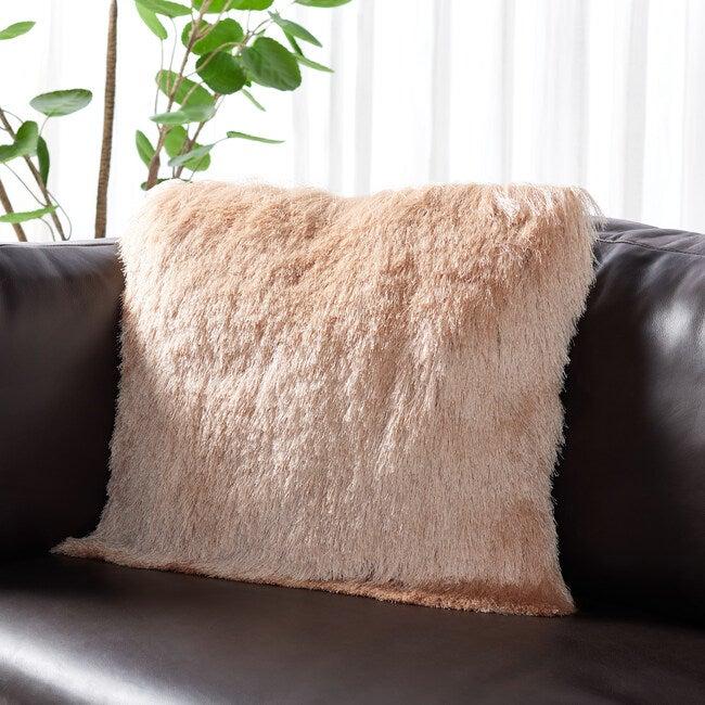 Cali Shag Pillow, Pink