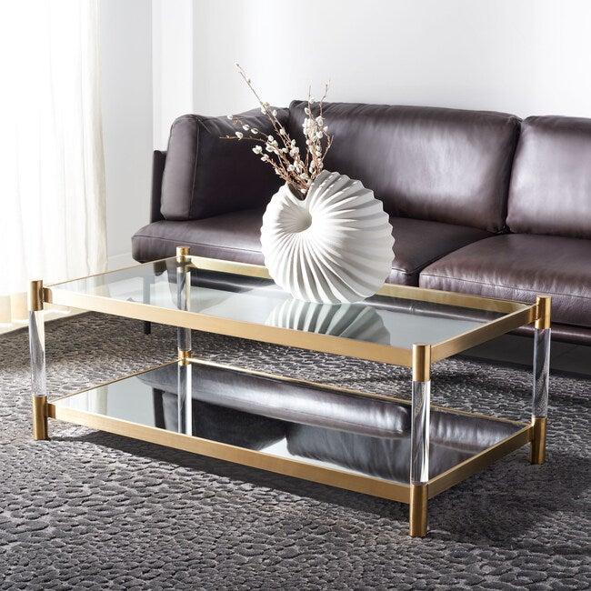 Shayla Acrylic Coffee Table, Clear
