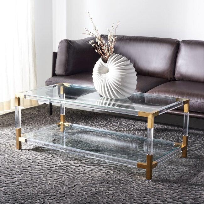Louisa Acyrlic Coffee Table, Clear