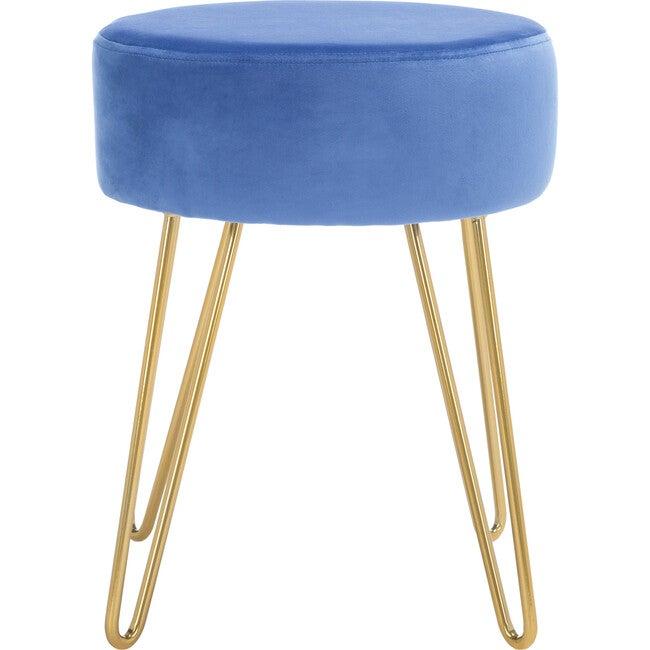 Abrea Round Ottoman, Blue