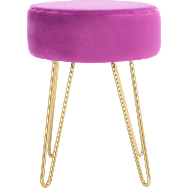 Abrea Round Ottoman, Pink