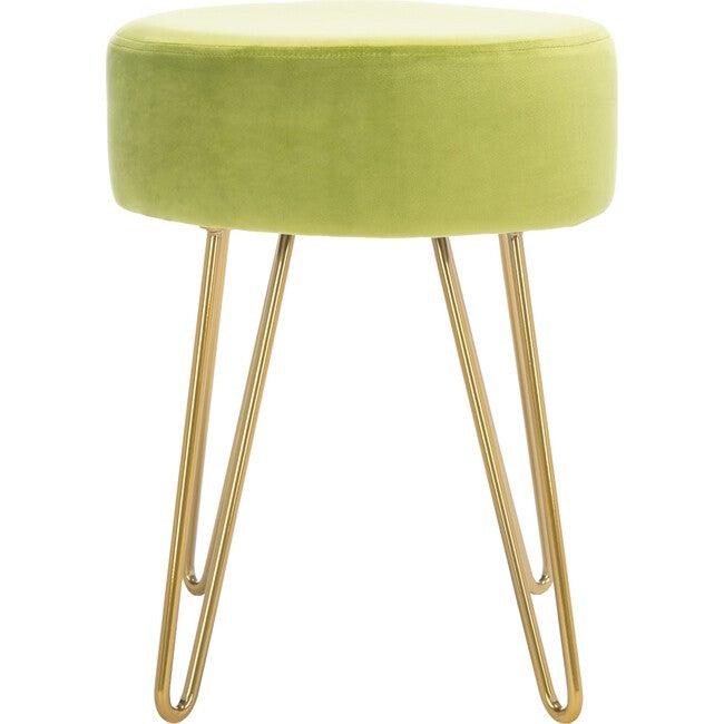 Abrea Round Ottoman, Green