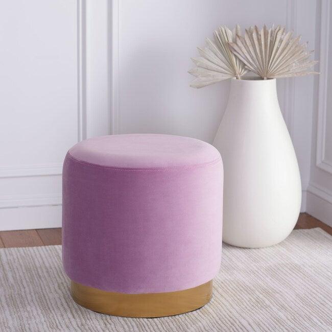 Azai Round Ottoman, Purple