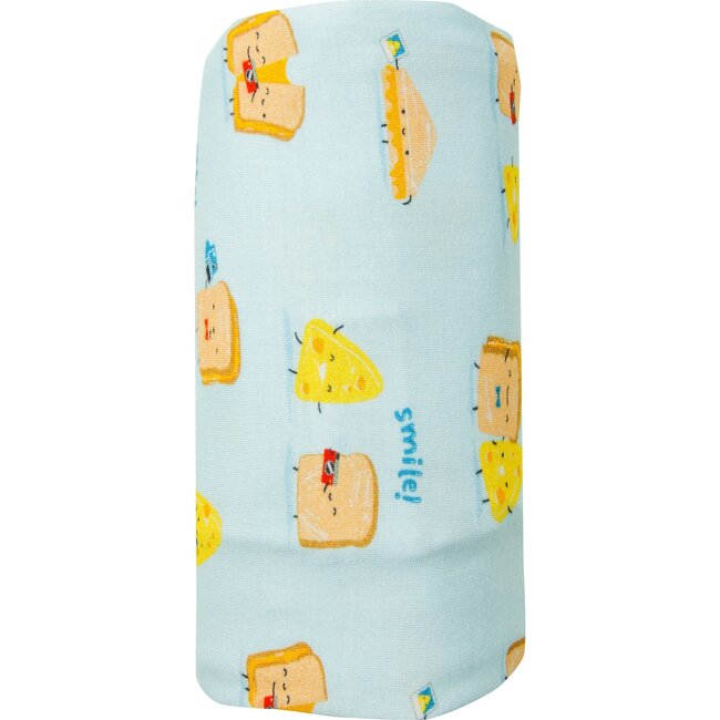 Say Cheese Swaddle, Blue