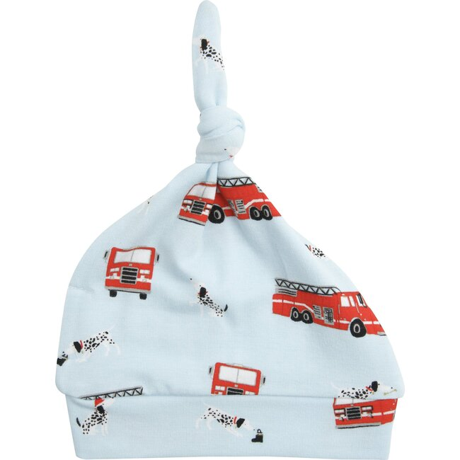 Firetruck Knotted Hat, Blue