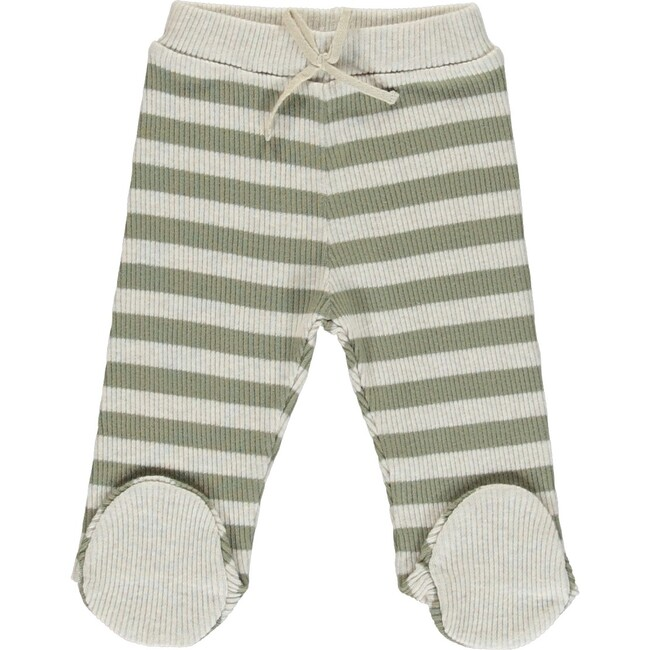 Vintage Pants with Feet, Green Stripe