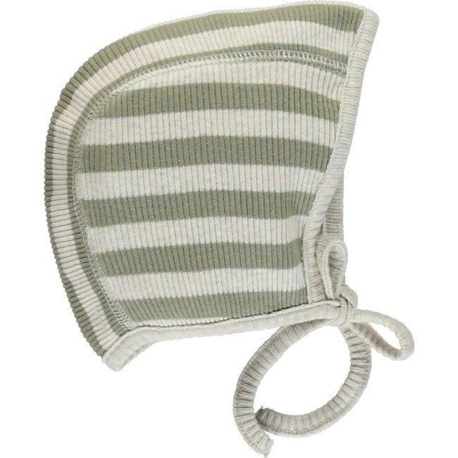 Vintage Bonnet, Green Stripe