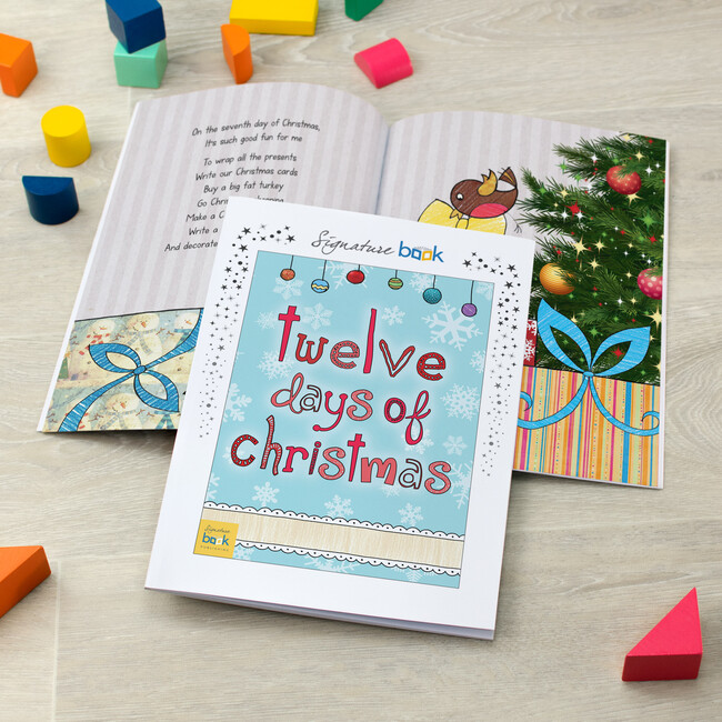Personalized 12 Days of Christmas Book, Softback