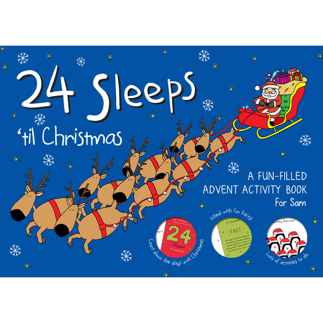 24 Sleeps 'til Christmas Personalized Activity Book
