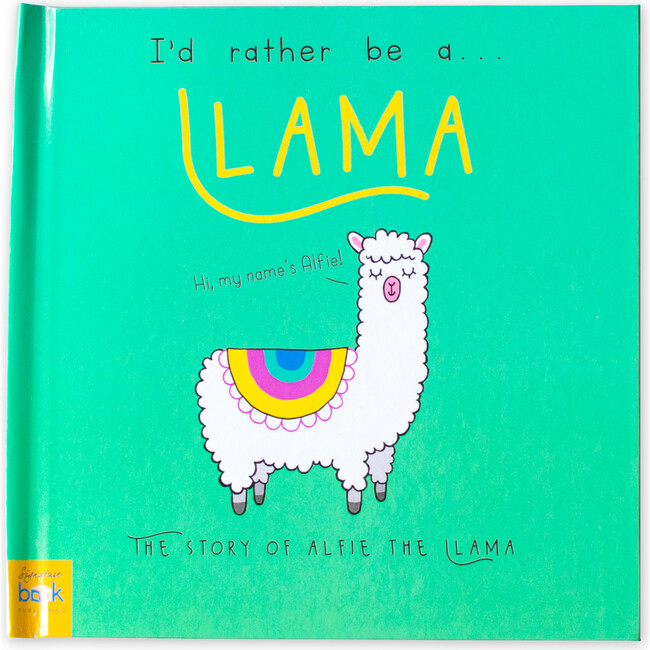 Personalized I'd Rather Be a Llama Story, Hardback