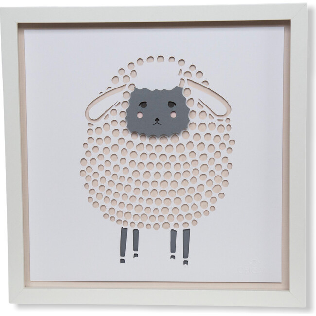 One Sheep, Two Sheep.. Sleep, Counting Sheep Duo Framed Applique Wall Art