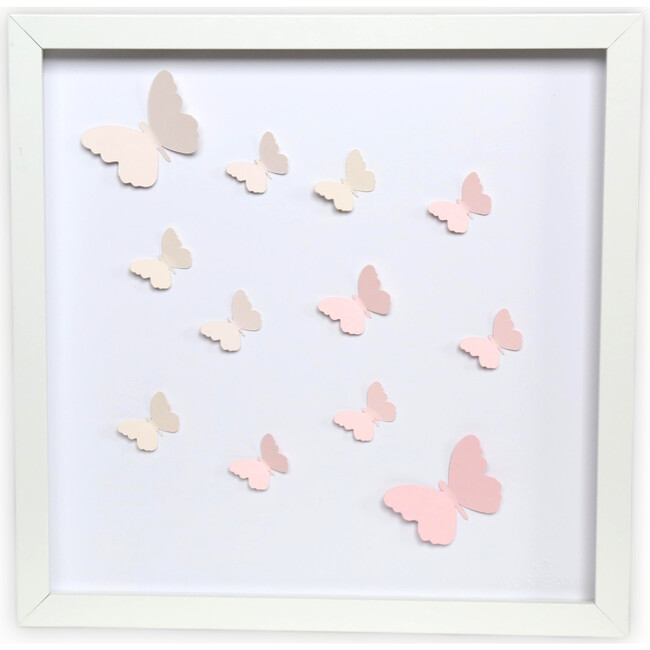 Butterfly Pink Dreams, Framed Applique Wall Art