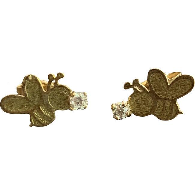 14kt Gold Bee with Zirconia