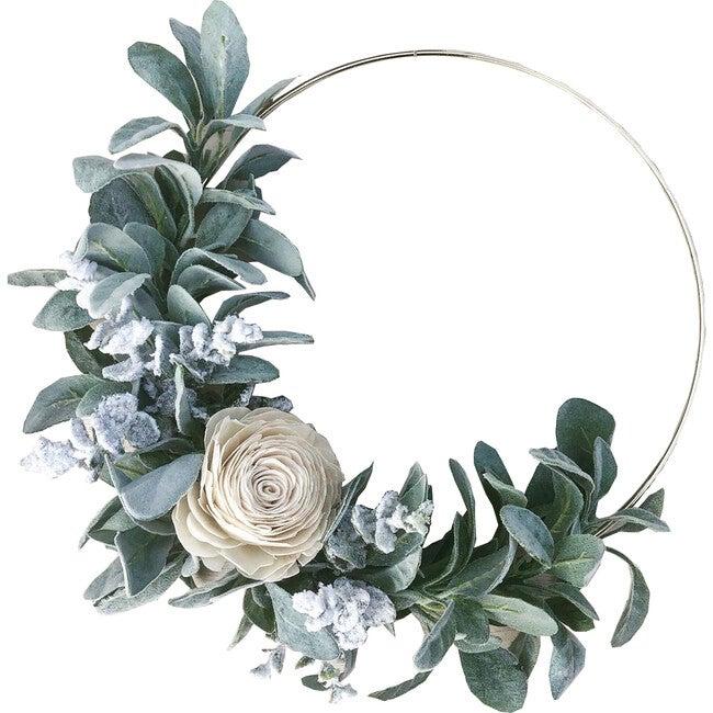 Hoop Wreath, White Rose - Wreaths - 1