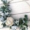 Hoop Wreath, White Rose - Wreaths - 2