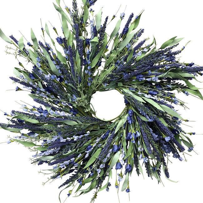 Spring Wreath, Lavender Wild Flower - Wreaths - 1