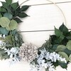 Farmhouse Hoop Wreath, Gray Dahlia - Wreaths - 4