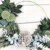Farmhouse Hoop Wreath, Gray Dahlia - Wreaths - 5