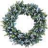 Farmhouse Spring Wreath, Gray Berries and Eucalyptus - Wreaths - 1 - thumbnail
