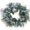 Farmhouse Spring Wreath, Gray Berries and Eucalyptus - Wreaths - 2