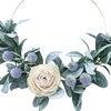 Spring Hoop Wreath, White Rose - Wreaths - 3