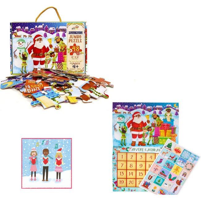 Countdown to Christmas Pack with Black Santa Calendar
