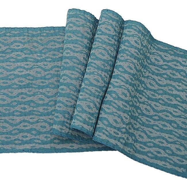 Cotton Table Runner, Blue Ocean