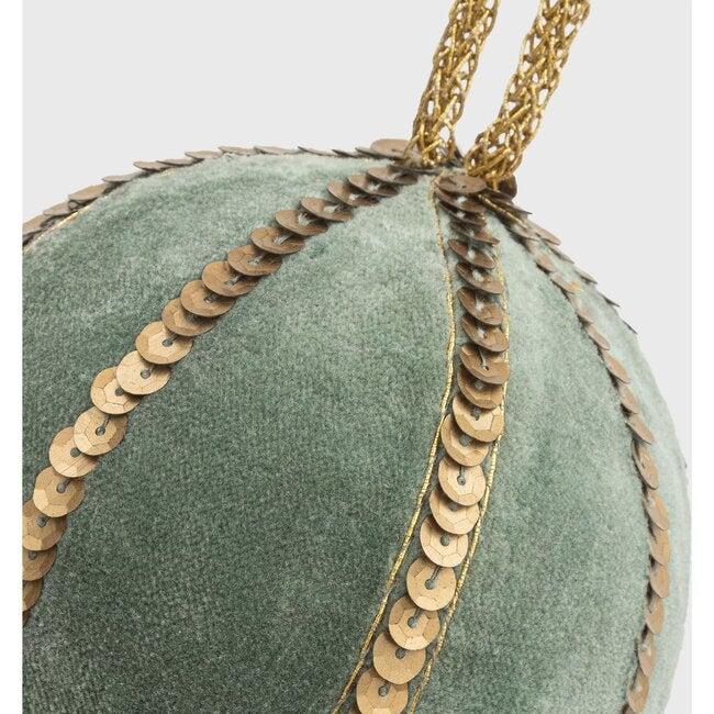 Large Velvet Sequin Ball , Moss Green