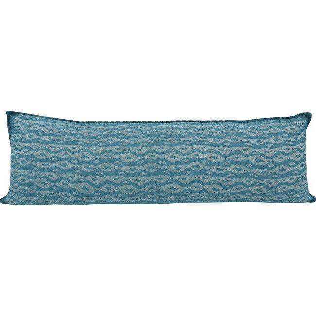 Cotton Lumbar Pillow, Blue Ocean