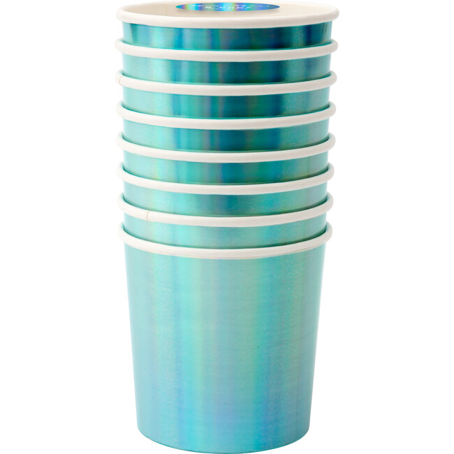 Holographic Blue Tumbler Cups