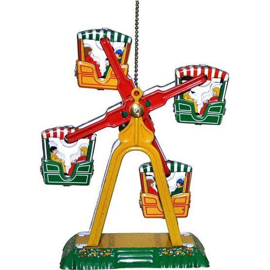 Ferris Wheel Tin Ornament, Multi