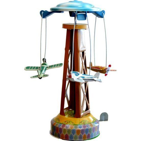 Merry-Go-Round Tin Toy, Multi - Transportation - 1
