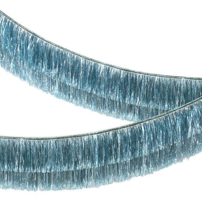 Blue Tinsel Fringe Garland