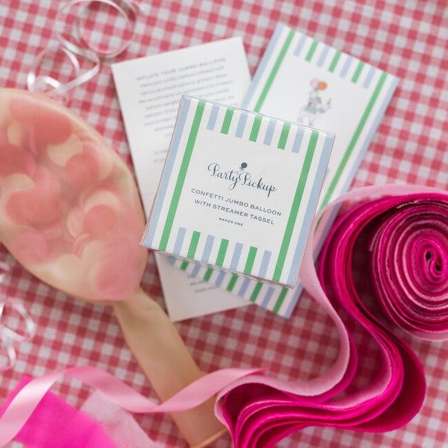Confetti Balloon with Pink Streamer Tassel Kit, Pretty in Pink
